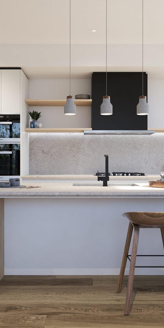 Beach Rd – Apartment 1 – Kitchen Elevation MR